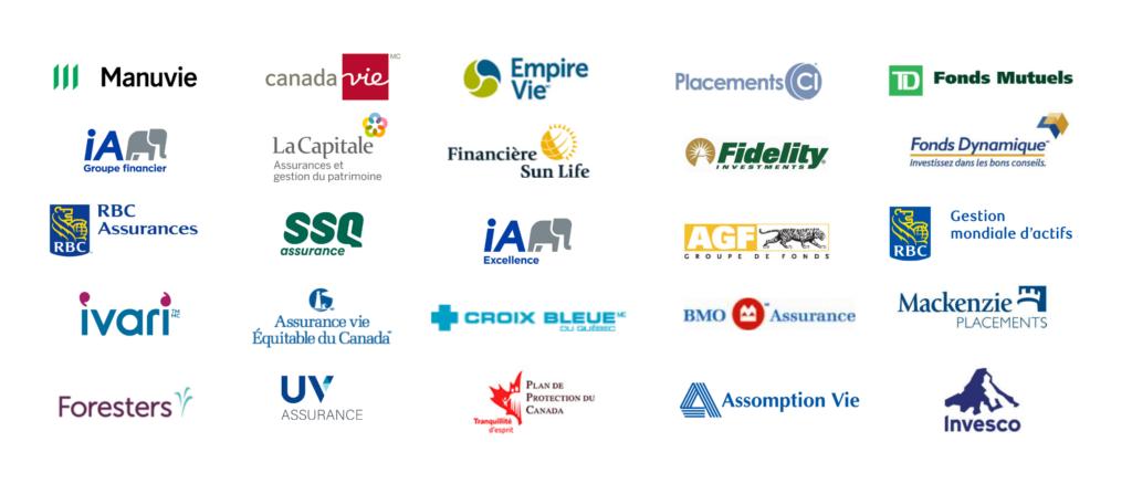 Fournisseurs assurances et placements